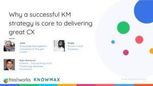 Knowledge management for better customer experience